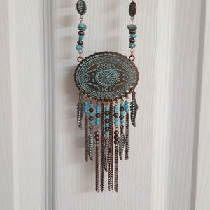 Shyanne Copper and Turquoise Necklace Set